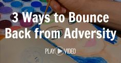 Learn 3 ways to bounce back from adversity in this art journal & inspiring message from http://MelanieTheMedium.com