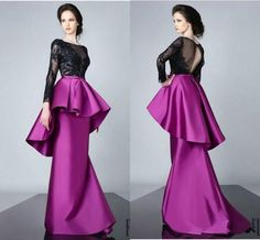 free shipping, $117.02/piece:buy wholesale new style 2016 fushia satin peplum evening dresses backless sheer sheath long sleeves illusion appliques black prom gowns sexy party formal 2016 spring summer,reference images,satin on hjklp88's Store from DHgate.com, get worldwide delivery and buyer protection service.