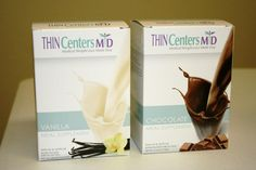 THIN Centers MD offers 2 flavors of shakes; Chocolate & Vanilla.