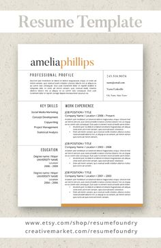 best selling resume template guaranteed to help you stand out instant download use
