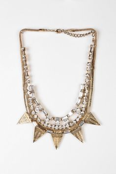 Snow Queen Bib Necklace - Urban Outfitters on Wanelo