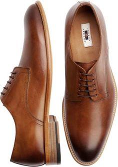 Blue dress tan shoes josef