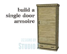 DIY Plans to Build a Single Door Armoire