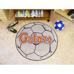 Florida Gators NCAA Soccer Ball Round Floor Mat (29) Gator Script