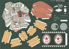 Make City, London, Fish and Chips - Cut Out Postcard | Flickr - Photo Sharing!