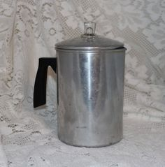 aluminum  coffee pot  stove top  camping by prettydish on Etsy, $10.00