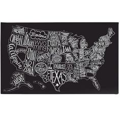 Buy your Black Tie US Map Canvas Wall Art by BasicGrey here. Geography never looked so cool. SIZE: 50 x Gallery-wrapped canvas wall art. Why we love BasicGrey Map Wall Art, Map Art, Map Canvas, Canvas Wall Art, Eclectic Artwork, Art Carte, Us Map, We Are The World, Basic Grey