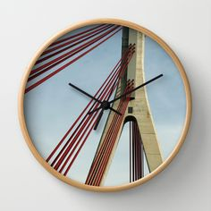 Bridge architecture Wall Clock by Christine baessler - $30.00