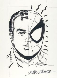 Amazing Spider-man // Peter Parker by the one and only John Romita Sr, Spiderman Tattoo, Spiderman Art, Amazing Spiderman, Comic Book Artists, Comic Artist, Comic Books Art, Spiderman Coloring, John Romita Jr, Jr Art