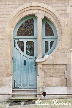 Beautiful Art Nouveau Door :: 6 Rue du Lac by Ernest Delune