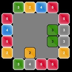 MNUM2 - tile matching puzzle logic game with randomness