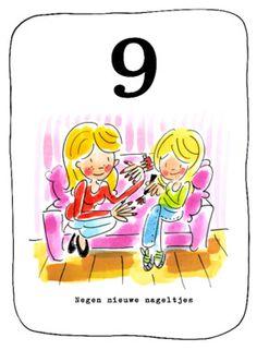 Leeftijdkaart 9, negen nieuwe nageltjes- Greetz