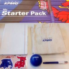 Newcomers! Don't miss your personal KPMG survival pack!  #KPMGWelcomeNewcomers #KPMGStarterPack