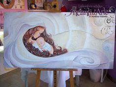 marilena palomba  capoletto dipinto a mano olio su tela 60x120 cm