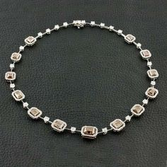 Brown & White Diamond Necklace