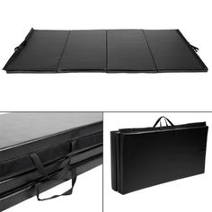 """GHP Black PU 4'X10'X2"""" Foldable Gymnastics Exercise Mats w PPE Interior Foam  //Price: $ & FREE Shipping //     #sports #sport #active #fit #football #soccer #basketball #ball #gametime   #fun #game #games #crowd #fans #play #playing #player #field #green #grass #score   #goal #action #kick #throw #pass #win #winning"""