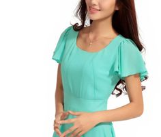 The New Spring And Summer Dress Slim Women Fashion Short Sleeved Chiffon Dress Vangood,http://www.amazon.com/dp/B00DL05TM0/ref=cm_sw_r_pi_dp_Mmcksb1JCMHW98S6