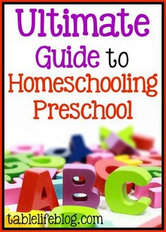Need help with preschool at home? This Ultimate Guide to Homeschooling Preschool has you covered with the information and resources you need to homeschool your preschooler. Preschool Schedule, Preschool At Home, Preschool Kindergarten, Preschool Learning, Toddler Preschool, Early Learning, Learning Activities, Kids Learning, Preschool Ideas