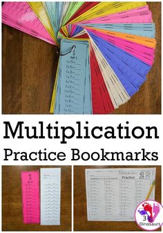 Multiplication Practice Bookmarks & No-Prep Worksheets - 68 bookmarks with answer key and matching worksheets for multiplication 1 to 12 - 3Dinosaurs.com #mathcenter #multiplication #thirdgrade #fourthgrade #tpt