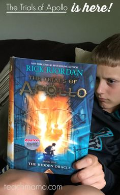 @teachmama percy jackson fans: The Trials of Apollo is here! #TrialsofApollo | rick riordan | best books for kids | new riordan series | teachmama | amy mascott