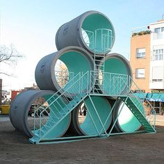 Hypertube play structure, Madrid by PKMN & Taller de Casquería. Visit the…