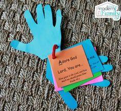DIY Prayer hands for kids
