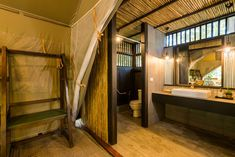 bathroom in a camp was wonderful. Tent Camping, Glamping, River Camp, Spring Nature, Resorts, Thailand, Luxury, Gallery, Bathroom