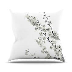 East Urban Home Cherry Sakura Throw Pillow