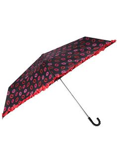 Black kiss print umbrella  #dpvalentines