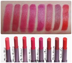 Oriflame The ONE Colour Unlimited Lipstick Swatches, Shades & Reviews! http://www.heartbowsmakeup.com/oriflame-the-one-colour-unlimited-lipsticks-review-swatches-price/