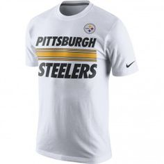 Girls Youth Pittsburgh Steelers White Standard Issue T-Shirt