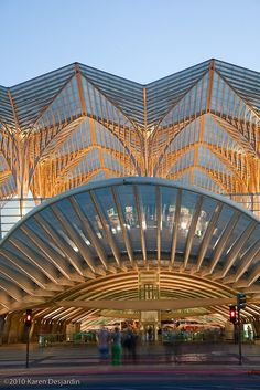 Gare do Oriente or Lisbon Orient Station is one of the main transport hubs in Lisbon, Portugal. It was designed by the Spanish architect Santiago Calatrava and built by Necso. It was finished in 1998 for the Expo '98 world's fair in Parque das Nações, where it is located.