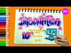 IDEAS PARA MARCAR CUADERNOS-Regreso a clase-Cómo marcar cuaderno de Inglés-Yaye - YouTube My Notebook, School Hacks, Cover Pages, Jikook, Ideas Para, Pop Art, Tumblr, Lettering, Writing