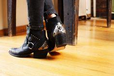 Cowboy ankle boots.