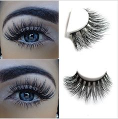 100% real mink fur Handmade crossing lashes D009 individual strip thick lash #Ardell