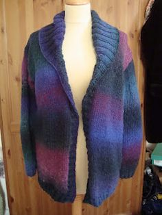 Colourscape Cardigan chunky knitted jacket cardi