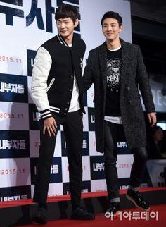 151116 Ji Soo &  Lee Won Geun @ VIP Premiere of Movie 'Inside Men'