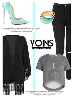 """Pop of Color with Yoins #8"" by antemore-765 ❤ liked on Polyvore featuring mode, Topshop, BCBGMAXAZRIA, Christian Louboutin, MustHave, fall2015 et yoins"