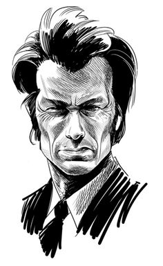 Sketch of Clint Eastwood by Cameron Stewart