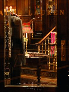 Glimpse into the Ralph Lauren flagship store...