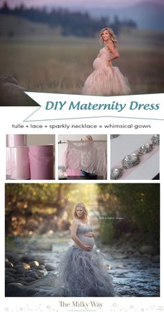 SUPER simple tutorial to make your own Maternity Dress for photography sessions…