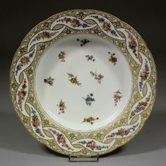 Sévres Porcelain (France) — Soup Plate, 18th Century (996x1000)