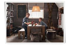 Rooms | Restoration Hardware Baby & Child; plank wall