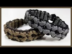 "Paracord Bracelet: ""Clove And Dagger"" Bracelet Design Without Buckle - YouTube"
