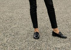 classic loafers and jeans are timeless...