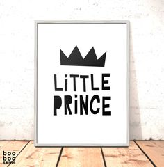 Little Prince Print | Nursery Art | Art for Boys Room Kids Room | Nordic Nursery Art | Modern Scandi Nursery Print Kids Room Monochrome by boobooskins on Etsy #monocrhome #scandi #nursery #art #print #poster #kids #kidsroom #boysroom #prince #crown #simple #bold #minimalist #nordic #papercut #danish #simple #cute #art #newbaby