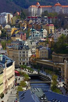 Karlovy Vary - The City of Spas by Jan Holakovsky - Photo 66526605 / World Cultures, Countries Of The World, Time Travel, Places To Travel, Beautiful Places, Beautiful Pictures, Fantasy Landscape, Czech Republic, Beautiful Landscapes