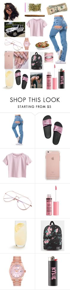 """""""School.Weed.Lit.Life"""" by miss-lelee-swagg ❤ liked on Polyvore featuring Victoria's Secret, Charlotte Russe, Schott Zwiesel, Vans, Wrangler and Rolex"""