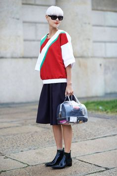 Ciao Bellas! The Best Street Style from Milan  Read more: Milan Fashion Week Spring 2013 - Milan Street Style - ELLE  Follow us: @ElleMagazine on Twitter | ellemagazine on Facebook  Visit us at ELLE.com