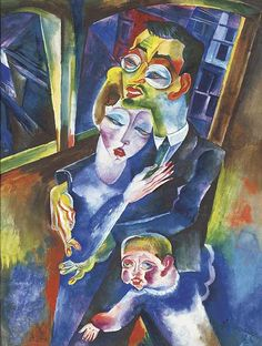 Felixmuller, Conrad (1897-1977) - 1923 Self-Portrait with my Wife Londa and my son Titus, via Flickr.